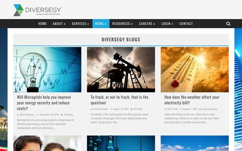 Screenshot of Blog diversegy.com - energy blogs relating to energy brokerage issues | Diversegy - captured Sept. 30, 2014