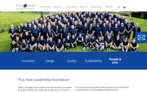 Screenshot of Team Page pluspack.com - Plus Pack Leadership Foundation - Join a leader in food packaging - captured July 20, 2018