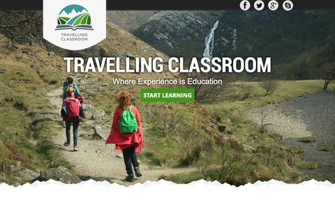 Screenshot of Home Page travellingclassroom.com - Travelling Classroom - Adventure English Education Courses - captured Oct. 7, 2014