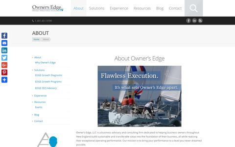 Screenshot of About Page ownersedgellc.com - Business Management Consultant RI | Owners Edge LLC - captured Sept. 21, 2018