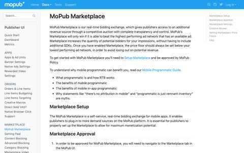 Screenshot of Developers Page mopub.com - MoPub Marketplace   MoPub Publisher UI   MoPub Developers - captured Nov. 16, 2018