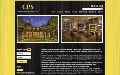 Screenshot of Home Page completeproperty.com - CPS | Complete Property Services - captured Oct. 3, 2014