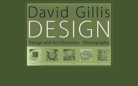 Screenshot of Home Page davidgillisdesign.com - Welcome to David Gillis Design | Home - captured Sept. 30, 2014