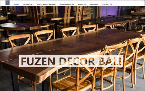 Screenshot of Home Page fuzendecorbali.com - Bali furniture and handicrafts manufacturers, suppliers, wholesale, factory - captured Aug. 21, 2019