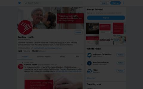 Tweets by Cardinal Health (@cardinalhealth) – Twitter