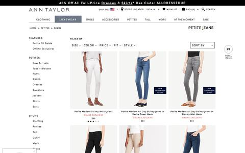 Women's Petite Jeans - Flare, Skinny, Ankle, & More | ANN TAYLOR