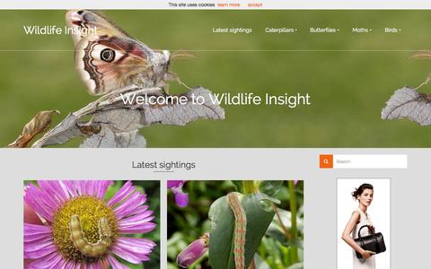 Screenshot of Home Page wildlifeinsight.com - Wildlife Insight | nature photography - captured Aug. 7, 2015