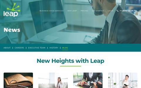 Screenshot of Blog leap.tel - Role of Technology & Communication - Blog  | Leap - captured July 10, 2018