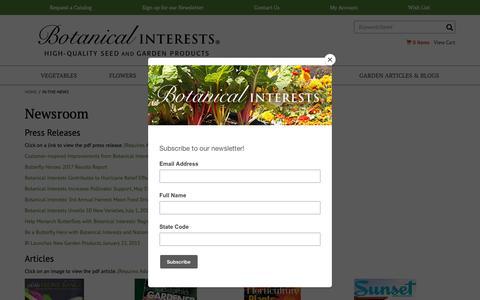 Screenshot of Press Page botanicalinterests.com - Botanical Interests High Quality Seeds and Garden Products - captured Oct. 6, 2018
