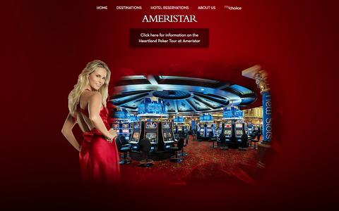 Screenshot of Home Page ameristar.com - Ameristar Casinos Inc. | Official Website - captured Sept. 23, 2014