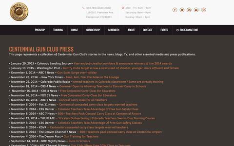 Screenshot of Press Page centennialgunclub.com - Press  - Centennial Gun ClubCentennial Gun Club - captured Dec. 7, 2015