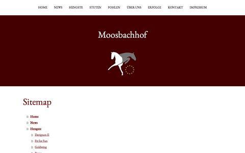 Screenshot of Site Map Page jimdo.com - Sitemap - wiesenberger - captured March 30, 2017
