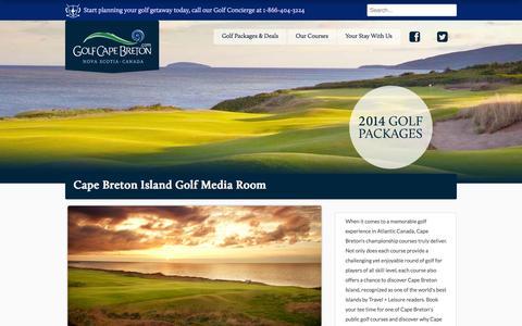 Screenshot of Press Page golfcapebreton.com - Golf Cape Breton - Press Room - captured Sept. 30, 2014