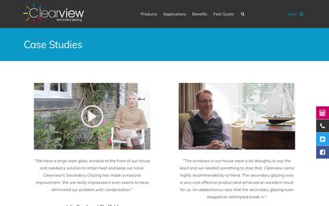 Screenshot of Case Studies Page clearviewsg.co.uk - Secondary Glazing Case Studies | Clearview Secondary Glazing - captured June 26, 2017
