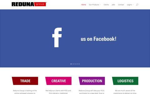 Screenshot of Home Page reduna.com - Reduna | Retail & Social Media Agency - captured Aug. 15, 2015