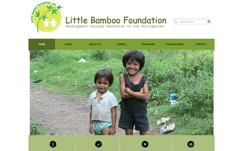 Screenshot of Home Page littlebamboo.info - Little Bamboo Foundation - captured Jan. 30, 2016