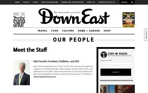 Screenshot of Team Page downeast.com - Our People - captured Oct. 12, 2017