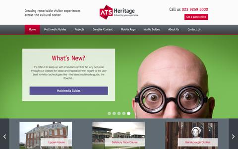 Screenshot of Home Page ats-heritage.co.uk - Welcome to ATS - captured Dec. 23, 2015