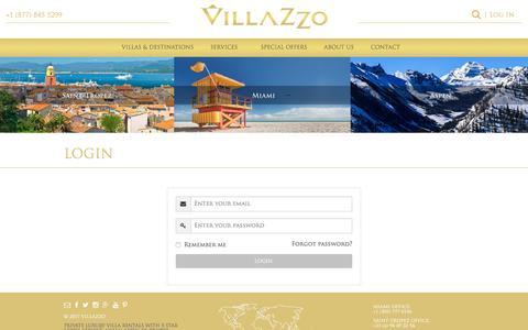 Screenshot of Login Page villazzo.com - Login - Villazzo - captured Sept. 30, 2017