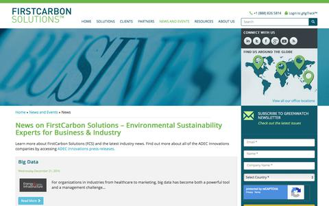 Screenshot of Press Page firstcarbonsolutions.com - Environmental Sustainability for Business & Industry - firstcarbon solutions, environmental sustainability experts, news, carbon consulting company, carbon management companies, energy efficiency companies, energy sustainability consultants, first ca - captured Sept. 25, 2018