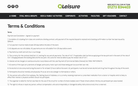 Screenshot of Terms Page qleisure.co.uk - Terms | General Content - captured May 16, 2017
