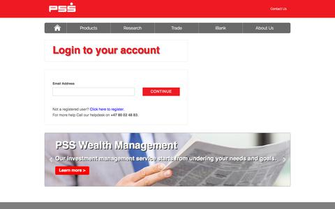 Screenshot of Login Page pssforex.com - PSS - Trusted and Transparent Online Trading Service - captured Aug. 20, 2019
