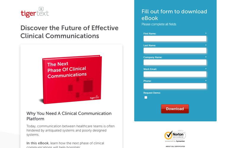 The Next Phase of Clinical Communciations TigerText eBook