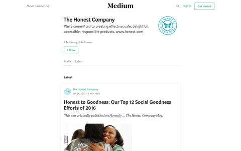 The Honest Company – Medium