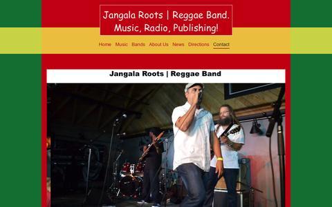 Screenshot of Contact Page kroffirecords.com - Contact - Jangala Roots | Reggae Band - captured Oct. 6, 2014
