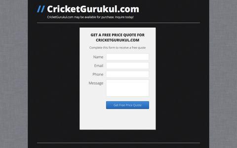 Screenshot of Home Page cricketgurukul.com captured Sept. 30, 2014