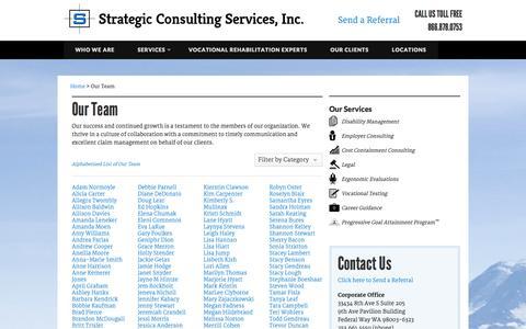 Screenshot of Team Page strategicconsultinginc.com - Washington Vocational Rehabilitation - captured Oct. 7, 2014