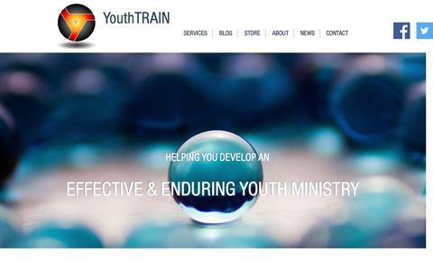 Screenshot of Home Page youthtrain.com - YouthTRAIN - captured Dec. 18, 2016