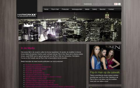 Screenshot of Press Page hairworkxx.com - In de Media - Hairworkxx extensions - captured Sept. 27, 2014