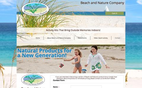 Screenshot of Contact Page beachandnatureco.com - contact - captured Nov. 22, 2016