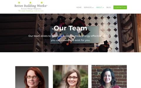 Screenshot of Team Page betterbuildingworks.com - People | Better Building Works - captured Oct. 5, 2018