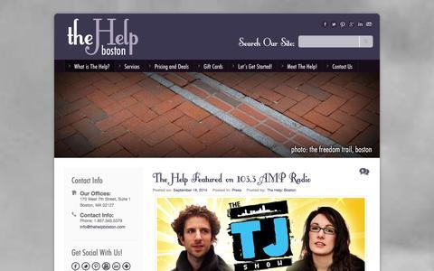 Screenshot of Press Page thehelpboston.com - The Help: BostonPress - captured Oct. 29, 2014