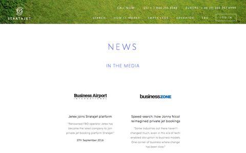 Screenshot of Press Page stratajet.com - Stratajet in the News | Stratajet - captured Jan. 15, 2017