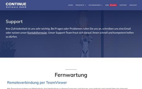 Screenshot of Support Page continue.de - CONTINUE Software GmbH   Warenwirtschaft und e-Commerce - captured Oct. 23, 2018