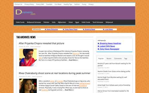 Screenshot of Press Page desimenia.com - news   Bollywood News, Entertainment Review, Online Dating - captured Oct. 30, 2014