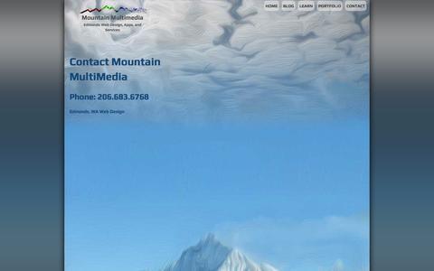 Screenshot of Contact Page mountainmultimedia.biz - Contact Mountain Multimedia - Edmonds Web Design | 206.683.6768 - captured Oct. 7, 2014