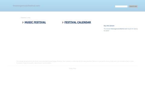 Screenshot of Home Page freerangemusicfestival.com - freerangemusicfestival.com-This website is for sale!-freerangemusicfestival Resources and Information. - captured Dec. 10, 2018