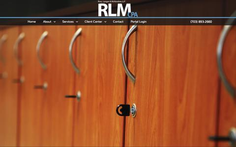 Screenshot of Home Page rlmcpa.com - McLean, VA Accounting Firm | Home Page | Ross, Langan, & McKendree, LLP - captured Aug. 14, 2015