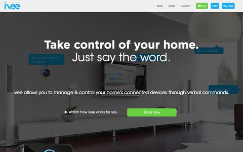 Screenshot of Home Page helloivee.com - Home - captured Oct. 6, 2014