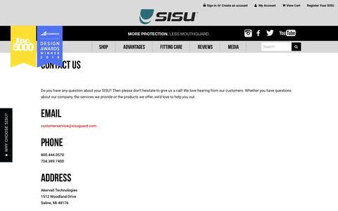 Screenshot of Contact Page sisuguard.com - Contact Us - captured Nov. 20, 2016
