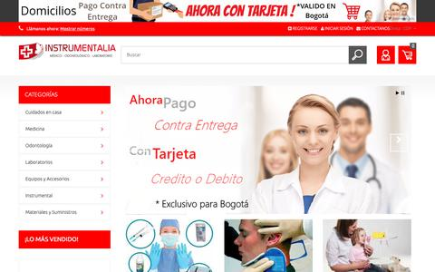 Screenshot of Home Page instrumentalia.com.co - Productos para profesionales en salud - Instrumentalia S.A.S. - captured Nov. 14, 2018