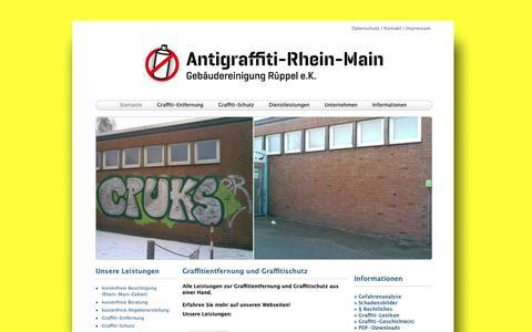 Screenshot of Home Page antigraffiti-rhein-main.de - Graffitientfernung - Graffitireinigung - Graffitischutz - Rhein-Main - captured Dec. 2, 2018