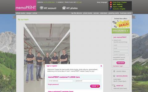 Screenshot of Team Page memoprint.com.hk - Photo Books Hong Kong, Wedding Albums, Calendars, Canvas, Cards | memoPRINT - captured Oct. 27, 2014