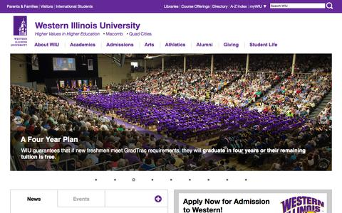 WIU - Higher Values in Higher Education  - Western Illinois University