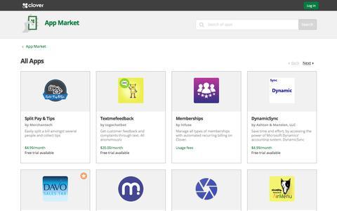 All Apps | Clover App Market | www.clover.com