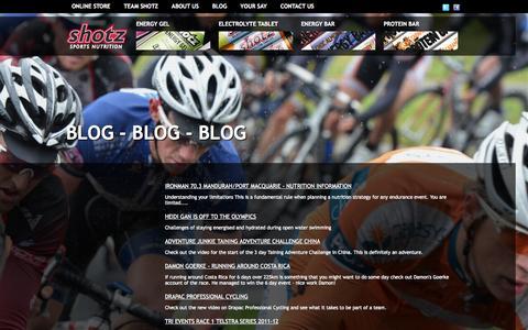 Screenshot of Blog shotz1.com - Blog   Shotz Sports Nutrition - captured Oct. 6, 2014